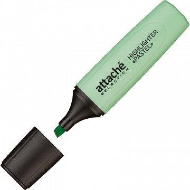 Текстмаркер Attache Selection Pastel 1-5мм скошенный наконечник зеленый пастель