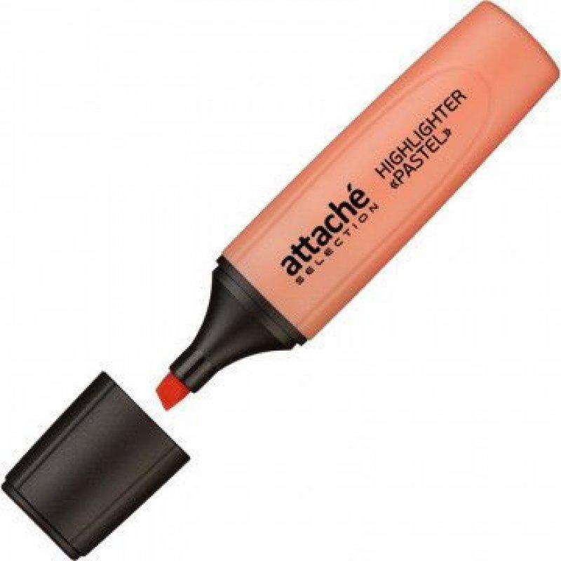 Текстмаркер Attache Selection Pastel 1-5мм скошенный наконечник оранжевый пастель