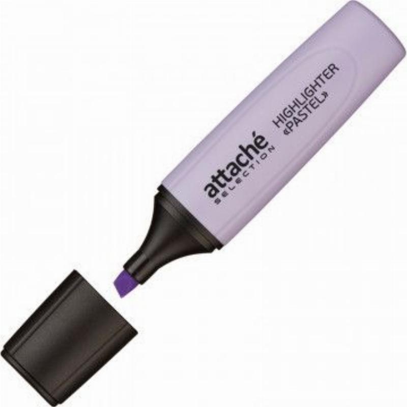 Текстмаркер Attache Selection Pastel 1-5мм скошенный наконечник фиолетовый пастель