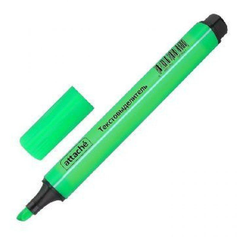 Текстмаркер Attache 1-4мм скошенный наконечник трехгранный корпус зеленый