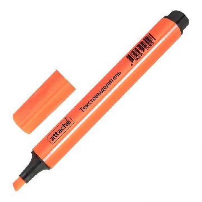 Текстмаркер Attache 1-4мм скошенный наконечник трехгранный корпус оранжевый