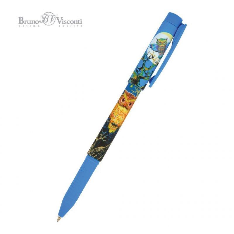 Ручка шариковая Bruno Viskonti FreshWrite Мультики синяя сова 0,7мм синяя