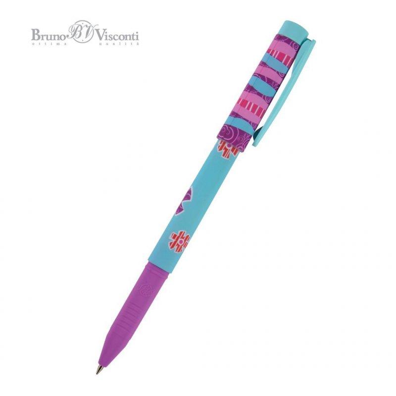 Ручка шариковая Bruno Viskonti FreshWrite Весенние цветы 0,7мм синяя