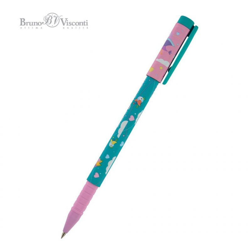 Ручка шариковая Bruno Viskonti FunWrite Птенчики 0,7мм синяя