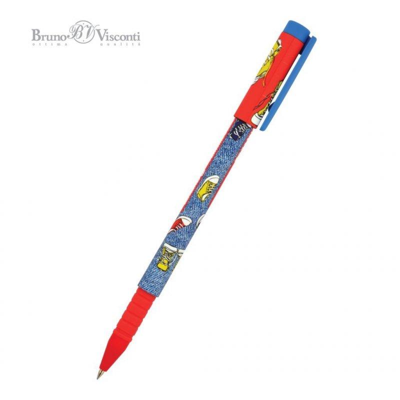 Ручка шариковая Bruno Visconti FunWrite Кеды разноцветные 0,7мм синяя
