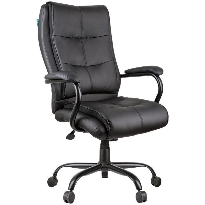 Кресло руководителя Helmi HL-ES02 Extra Strong с подлокотниками экокожа черное
