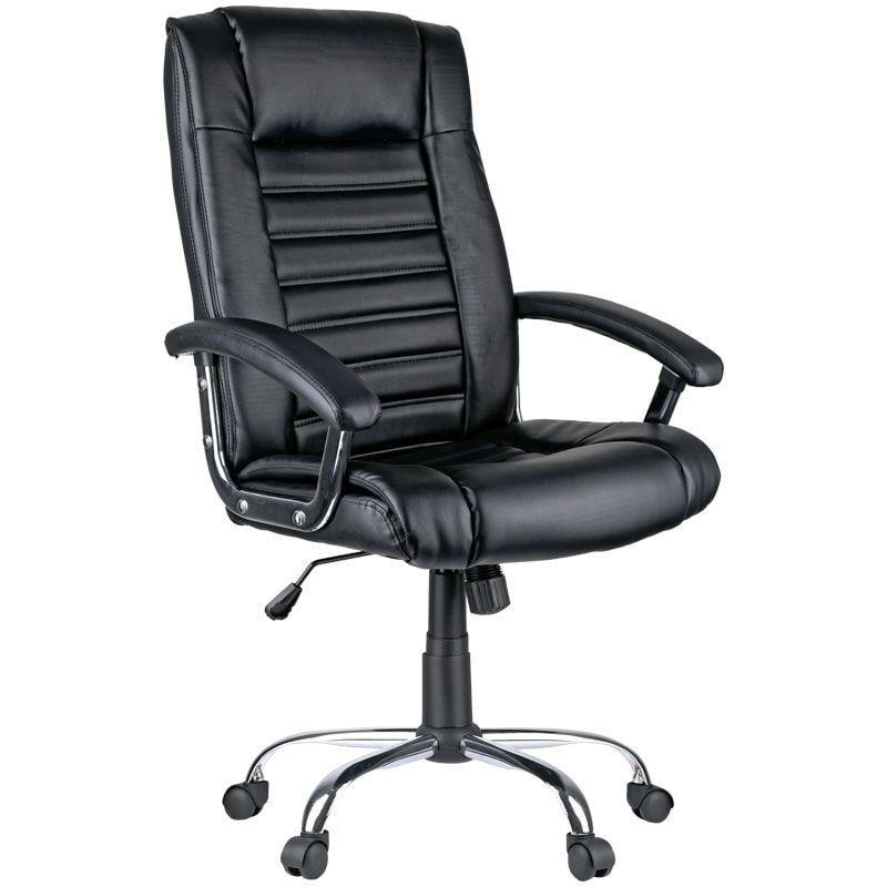 Кресло руководителя Helmi HL-E04 Split с подлокотниками экокожа черное