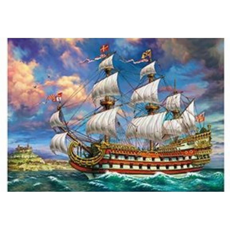 Палитра Холст с крас 40х50 Корабль на лазурном море