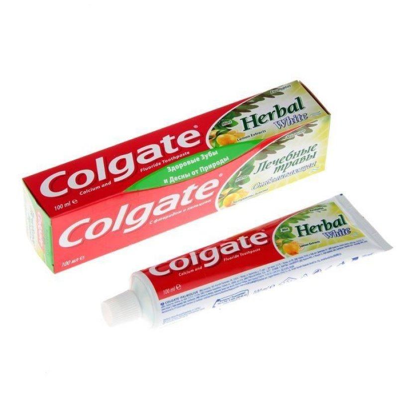 Зубная паста Колгейт 100мл Лечебные травы отбеливающая