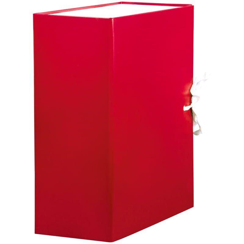 Короб архивный 120мм 2 завязки 1000л бумвинил красный 320х240х120мм OfficeSpace