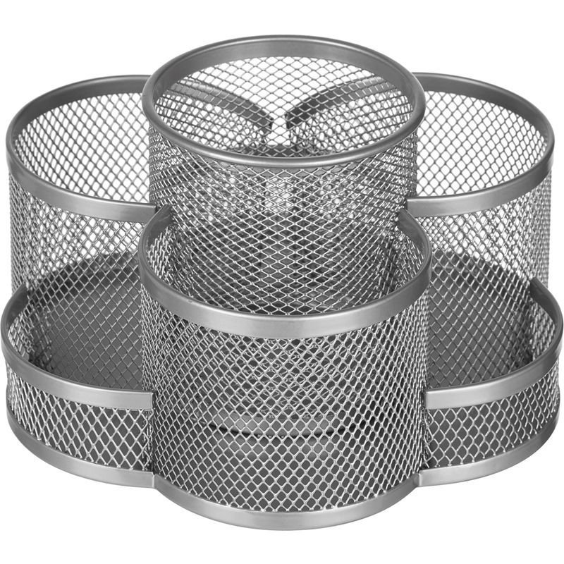 Органайзер настольный Attache 7 секций металлический серебро