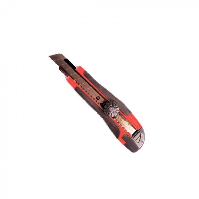 Нож канцелярский 18мм Attomex металл направляющие ролик фиксатор резин вставки