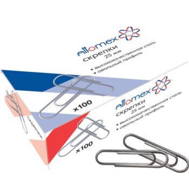 Скрепки 50мм Attomex 50шт/уп оцинкованные карт коробка