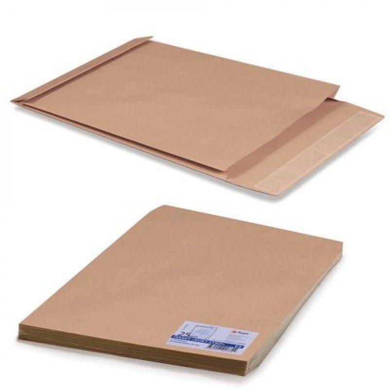 Конверт-пакет E4 объемный (300х400х40мм) крафт с отрывной полосой