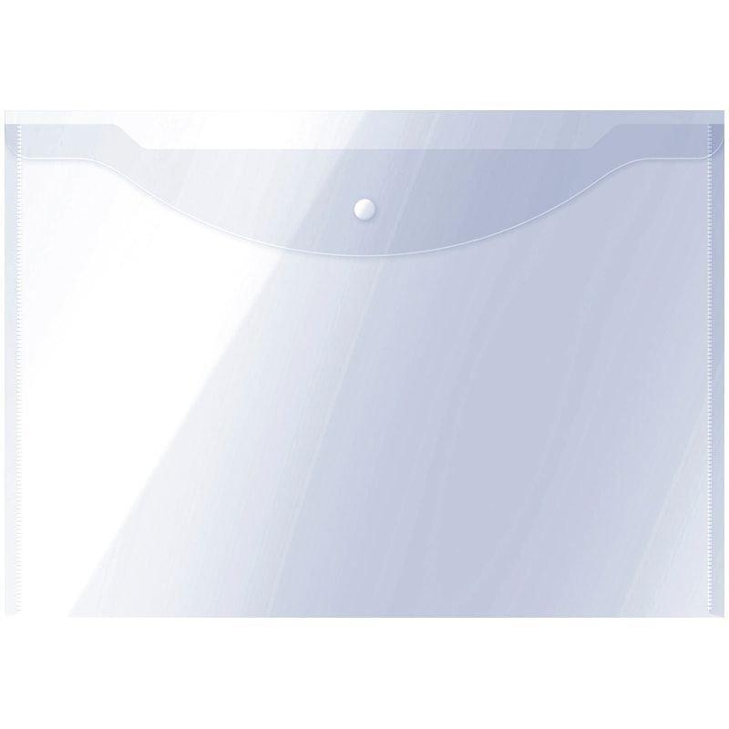 Папка-конверт с кнопкой А3 OfficeSpace прозрачная