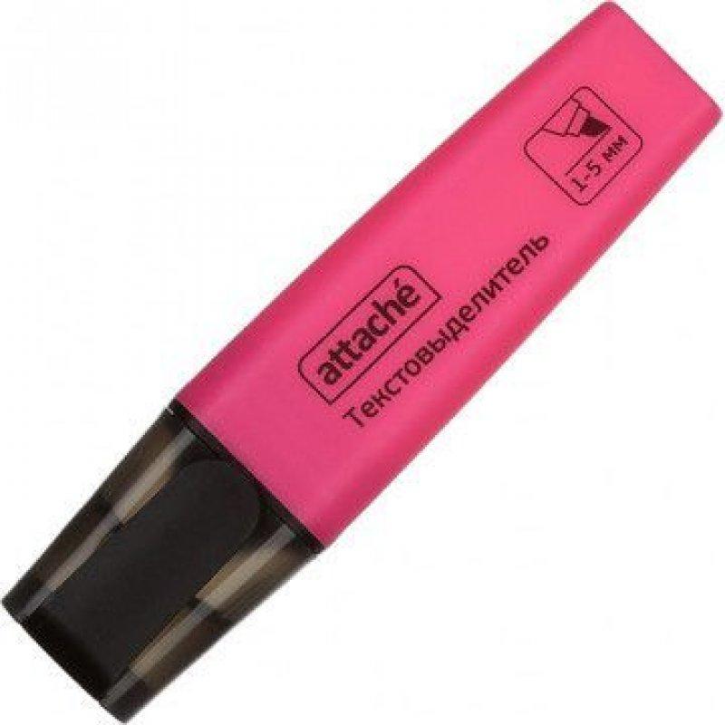Текстмаркер Attache Colored 1-5мм скошенный наконечник розовый