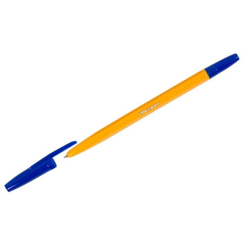 Ручка шариковая OfficeSpace 1мм оранжевый корпус синяя