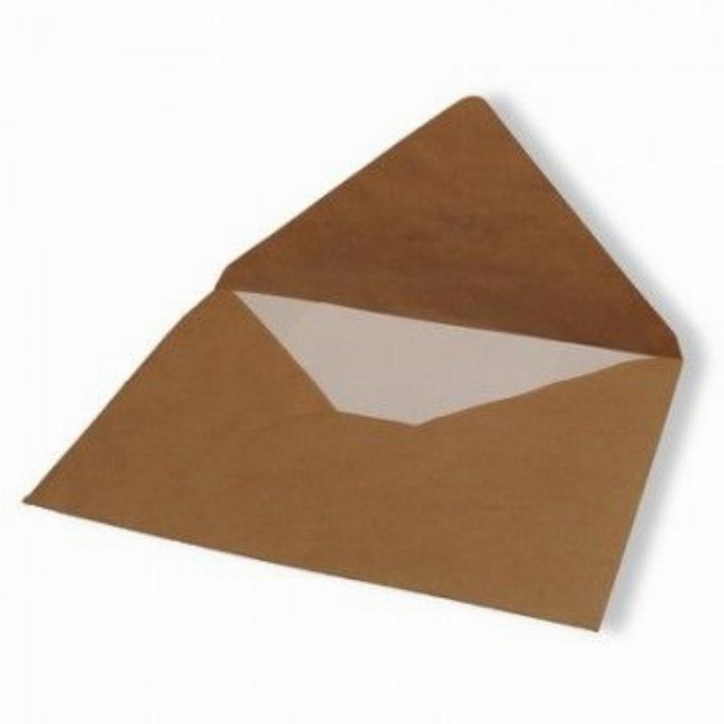 Конверт E4 (290х390мм) крафт без клея 80г/м2 треугольный клапан