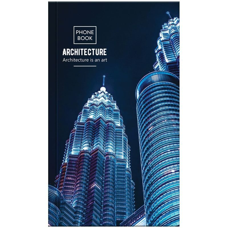 Телефонная книга А5 OfficeSpace 80л Путешествия Architecture  с высечкой