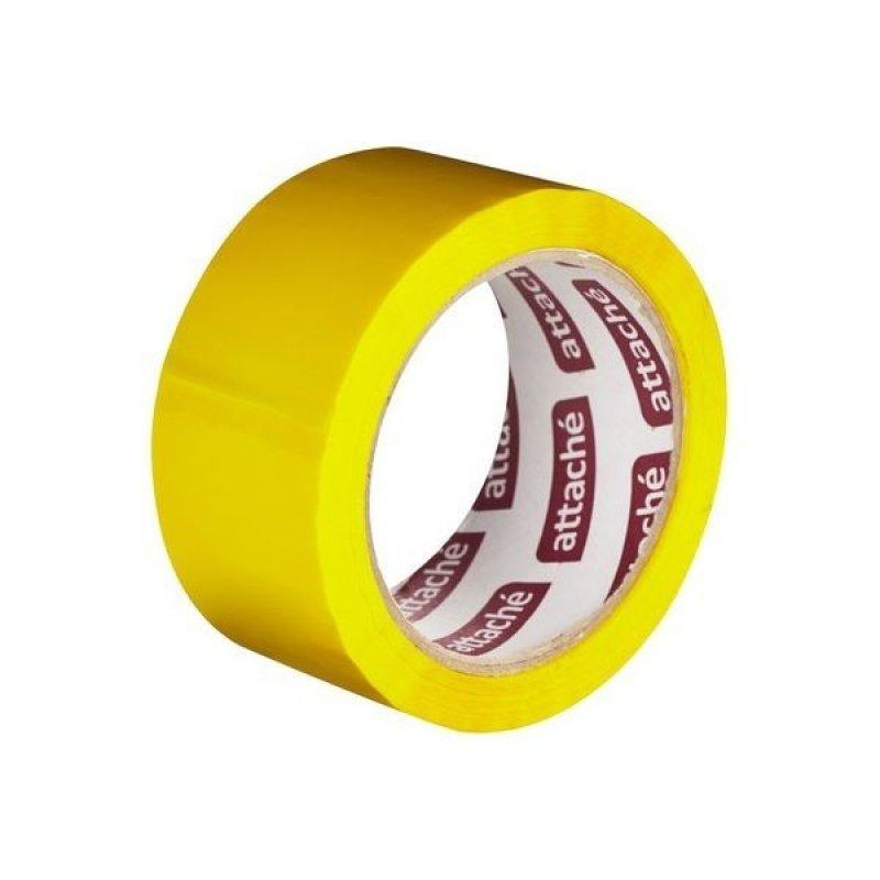 Клейкая лента упаковочная 48х66м 45мкм желтый