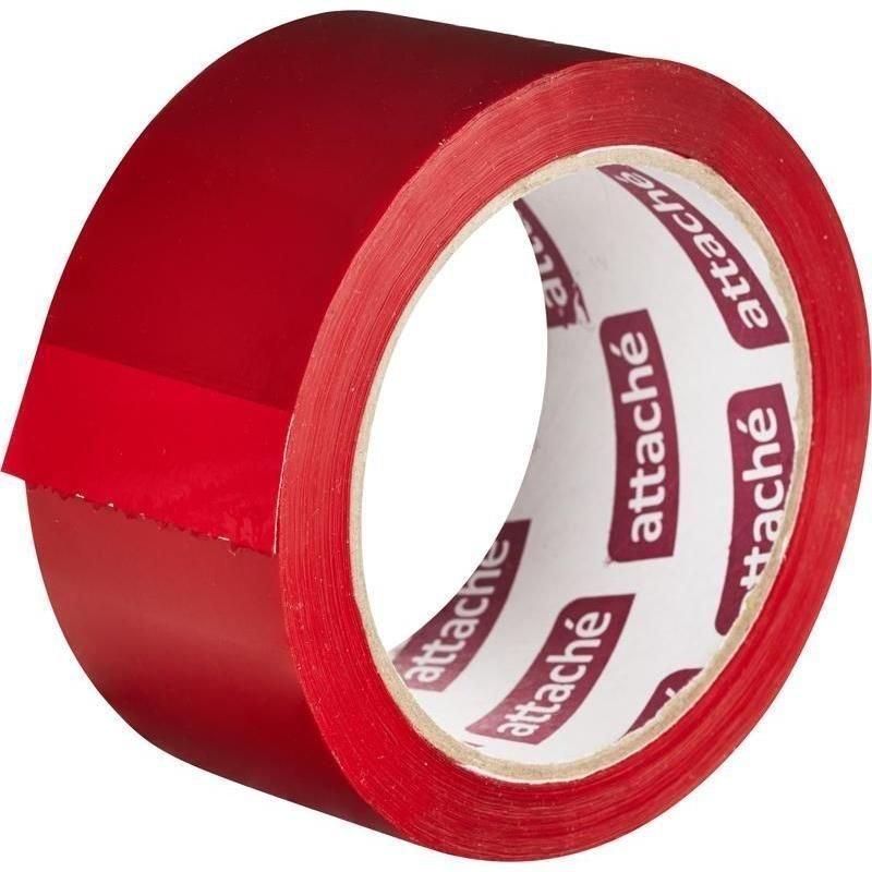 Клейкая лента упаковочная 48х66м 45мкм красный
