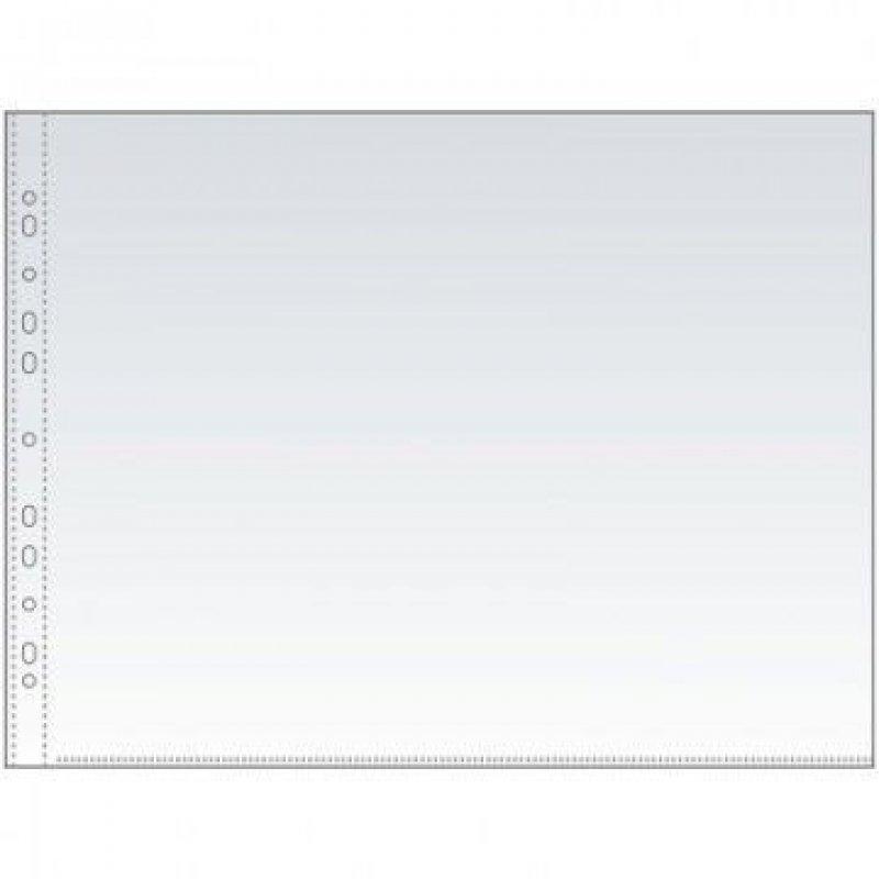 Папка-файл прозрачная с перфорацией А3 50шт/уп 35мкм глянец горизонтальная