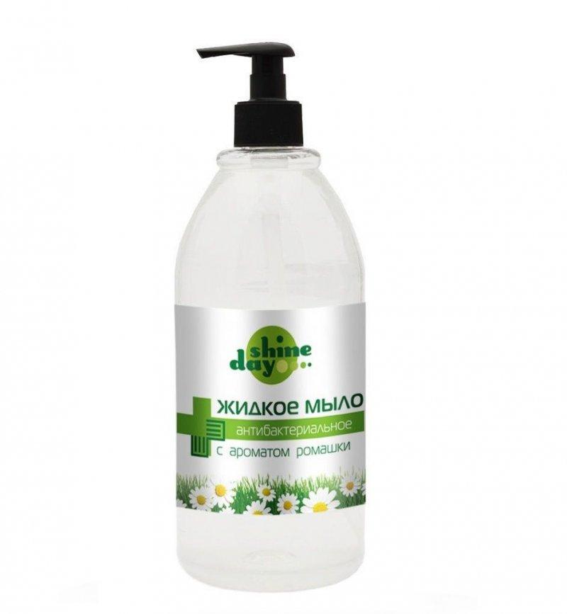 Мыло жидкое 500мл Shine day антибактериальное с ароматом ромашки дозатор