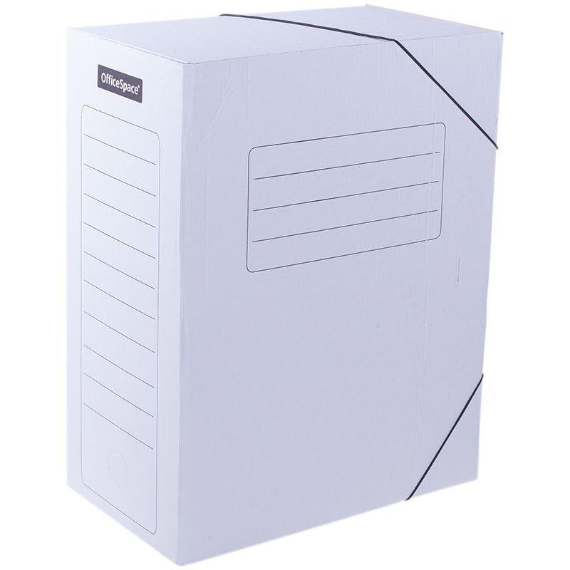 Короб архивный 150мм 1400л 2 резинки микрогофрокартон белый 325х235х150мм OfficeSpace