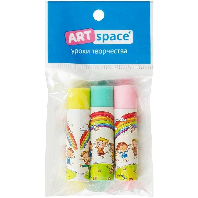 Набор ластиков ArtSpace Радуга  50*13*13мм 3шт  круглые термопластичная резина