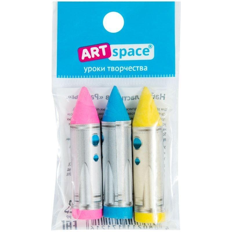 Набор ластиков ArtSpace Ракеты 35*20*20мм 3шт фигурные термопластичная резина
