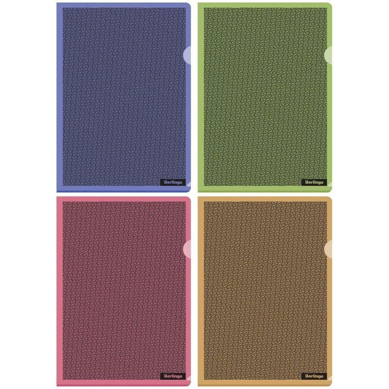 Папка-угол (карман) Berlingo xFiles 0,18мм непрозрачная ассорти