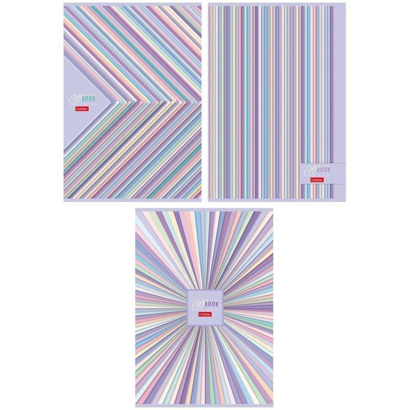 Тетрадь А4 96л  Hatber Gentle design мелованный картон клетка скрепка