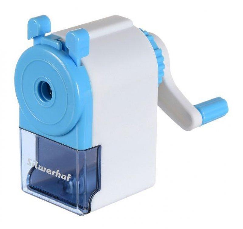Точилка механическая пластиковая голубая
