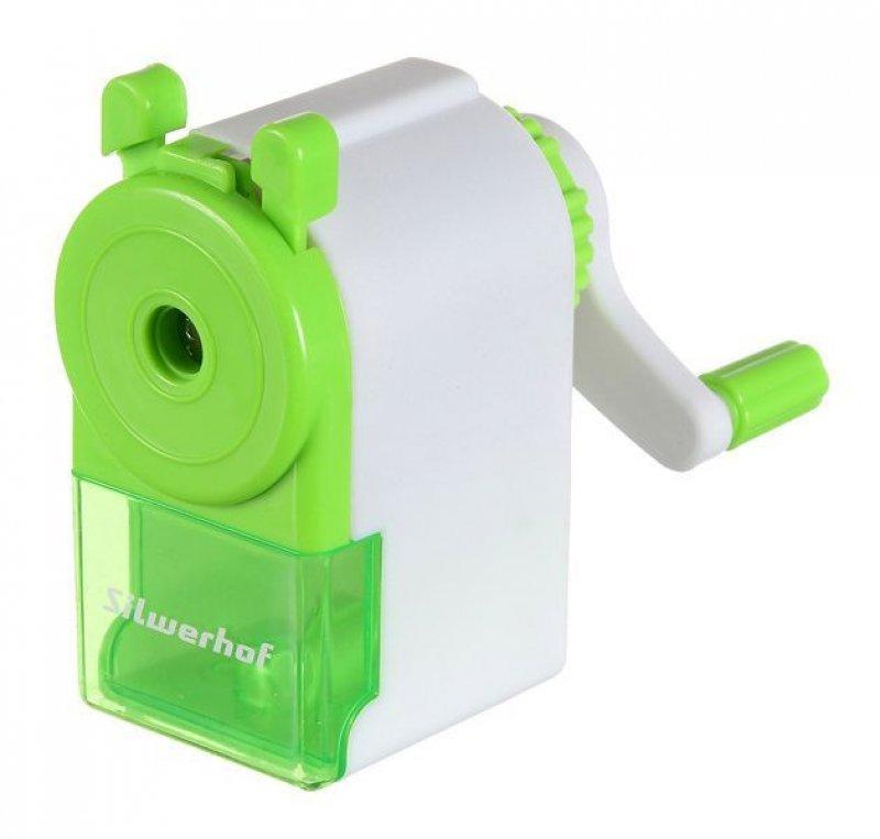 Точилка механическая пластиковая зеленая