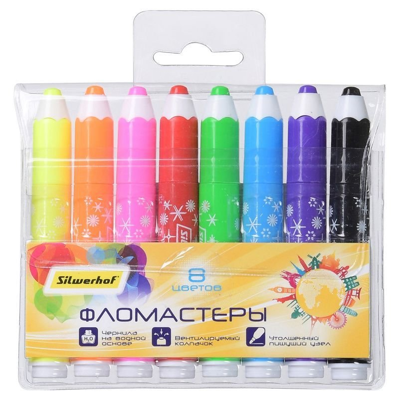 Фломастеры 8цв Jumbo Pencils