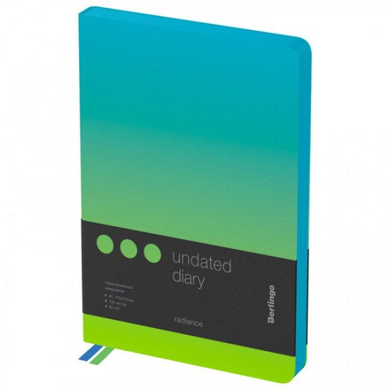 Ежедневник А5 недат Berlingo Radiance голубой/зеленый градиент
