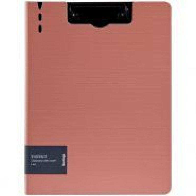Папка-планшет двойная с верхней крышкой А4 Berlingo Instinct фламинго/черный