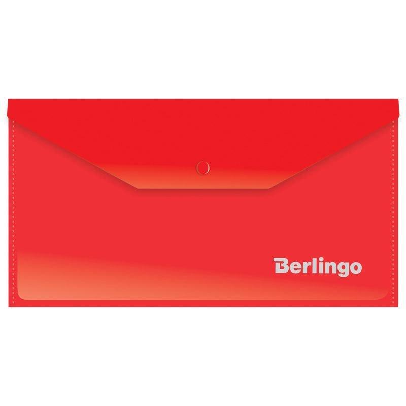 Папка-конверт с кнопкой С6 Berlingo 0,18мм красная