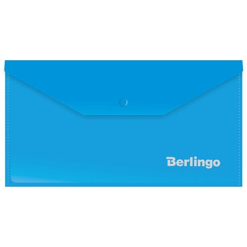 Папка-конверт с кнопкой С6 Berlingo 0,18мм синий