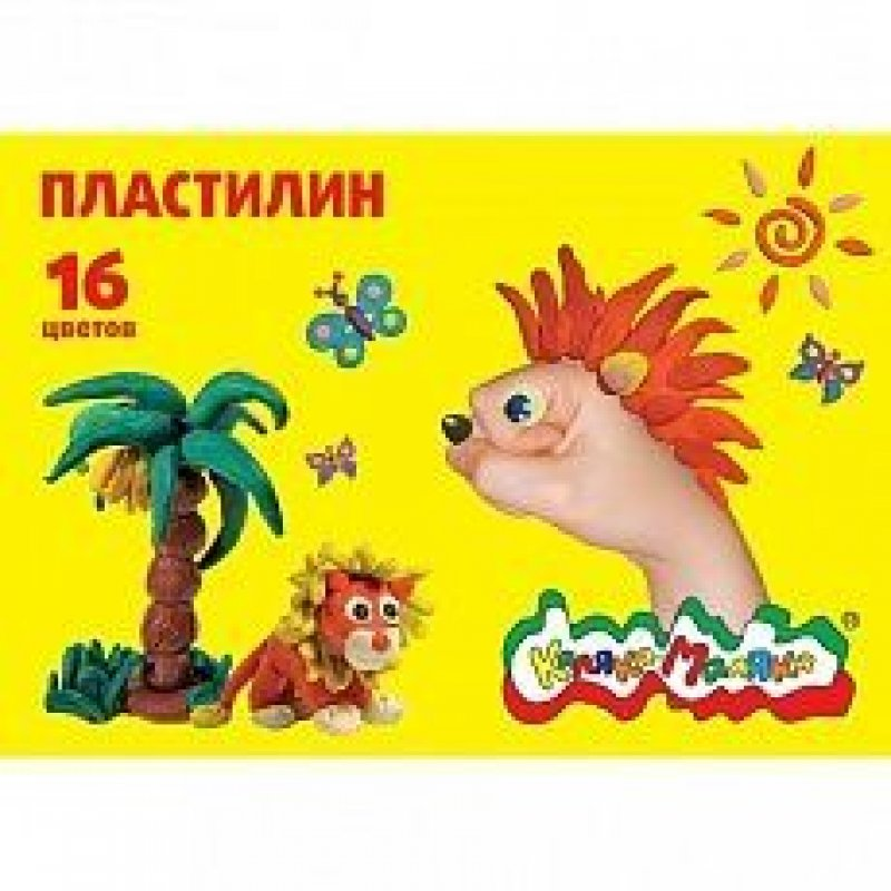 Пластилин 16цв Каляка-Маляка 240 г со стеком
