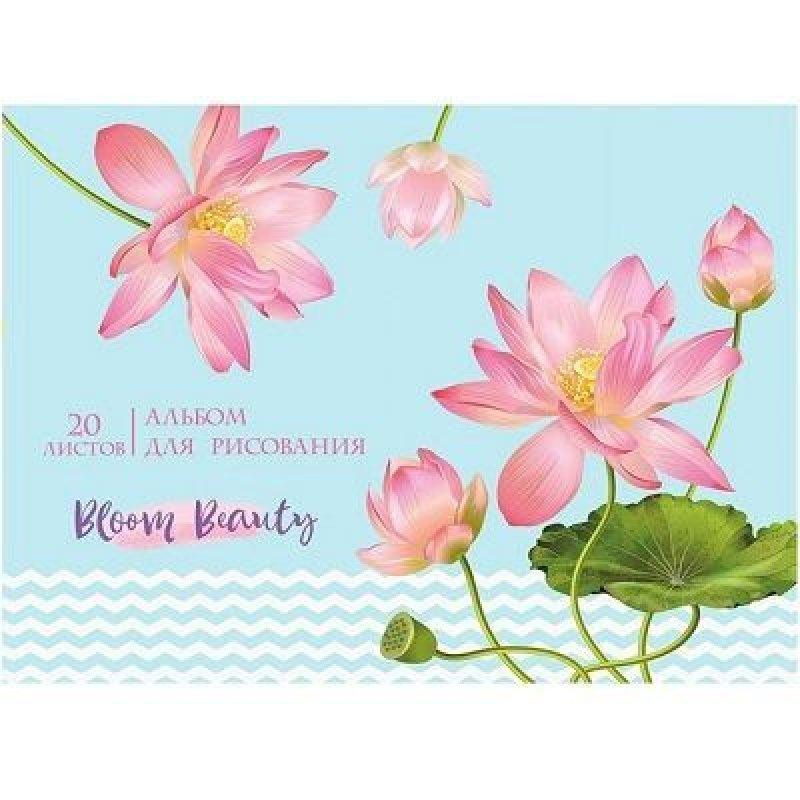 Альбом для рисования 16л Нежный цветок