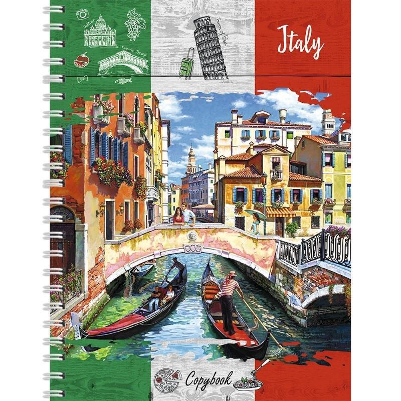 Тетрадь А4 96л Венецианский мост гребень