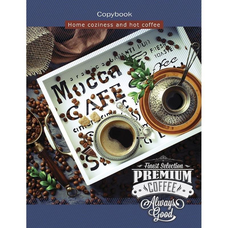 Тетрадь на кольцах со сменным блоком 100л А5 Утренний кофе