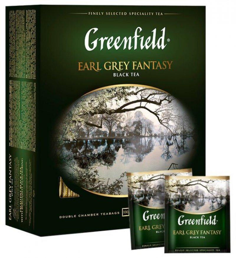 Чай Greenfield Earl Grey Fantasy 100шт в пакетиках черный