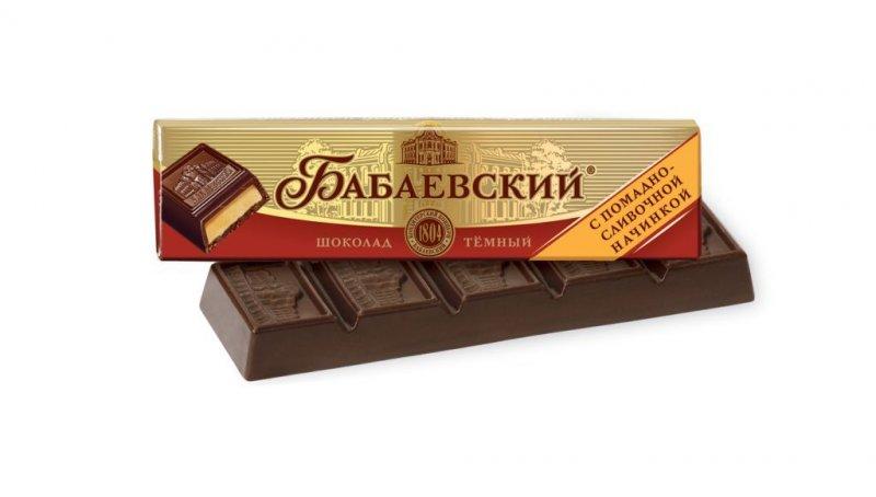 Шоколадный батончик Бабаевский шоколадная начинка 50г