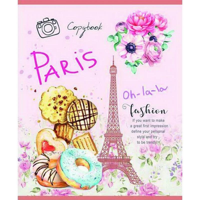 Тетрадь 96л Парижские сладости клетка