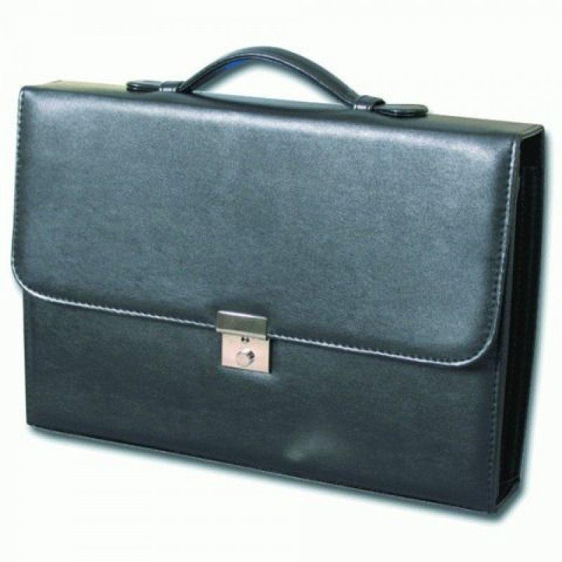 Портфель Alliance Бизнес 4 отделения кожзам черный ключ