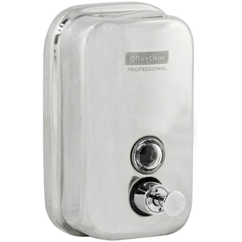 Диспенсер для жидкого мыла OfficeClean Professional 0,5л наливной нерж сталь