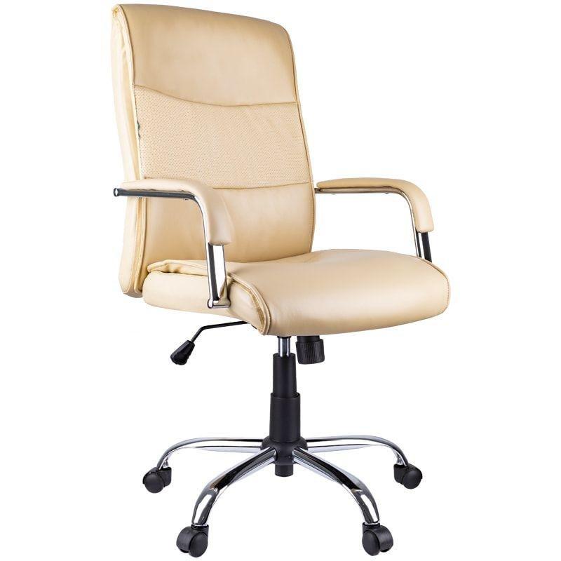 Кресло руководителя Helmi HL-E03 Accept с подлокотниками экокожа бежевое