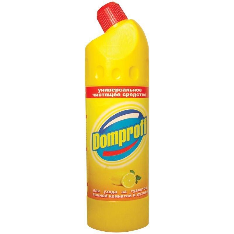 Средство универсальное для сантехники 750мл гель лимон Domproff